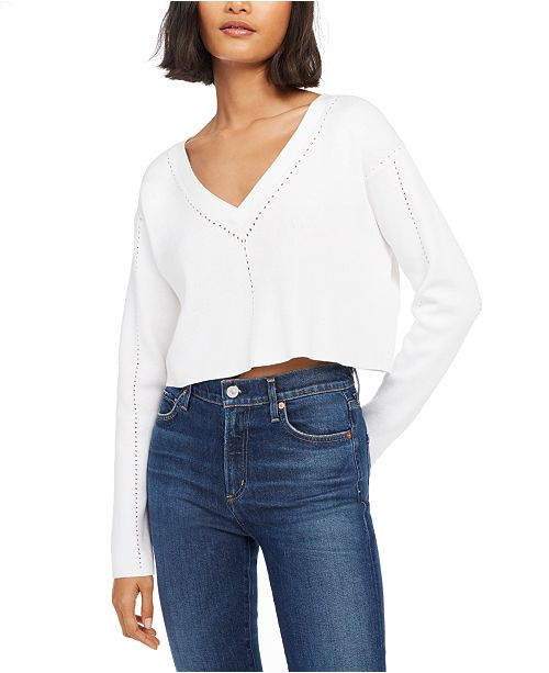 French Connection V-Neck Crop Sweater