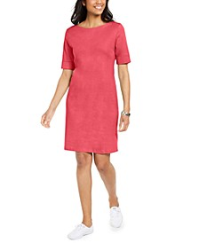 Cotton Cuffed-Sleeve Dress, in Regular and Petite, Created for Macy's