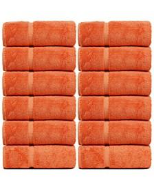 Luxury Hotel Spa Towel Turkish Cotton Wash Cloths, Set of 12