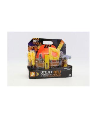 Tuff Tools Pretend Play 10 Piece Toy Utility Belt Set