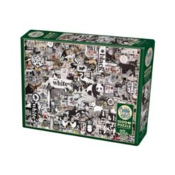 Cobble Hill: Black And White Animals 1000 Piece Jigsaw Puzzle