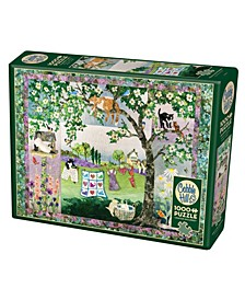 Wind In The Whiskers 1000 Piece Jigsaw Puzzle