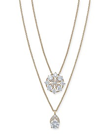 """Cubic Zirconia Convertible Layered Pendant Necklace, 16"""" + 1"""" extender, Created for Macy's"""