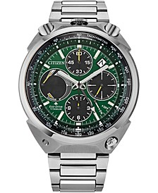 Men's Chronograph Eco-Drive Promaster Tsuno Racer Stainless Steel Bracelet Watch 43mm