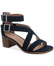 SUN + STONE Quinn Block-Heel City Sandals, Created for Macy's