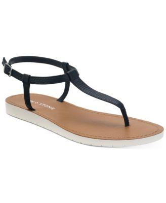 Sun + Stone Kristi T-Strap Flat Sandals