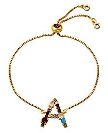Multi Color Initial Bolo Bracelet