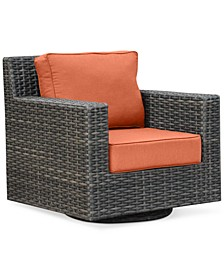 Viewport Wicker Outdoor Swivel Glider: with Custom Sunbrella® Colors, Created for Macy's