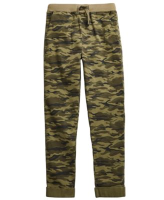 Big Boys Stretch Twill Camouflage Chino Pants, Created for Macy's