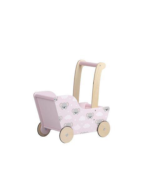 Moover Toys Line Design Baby Doll Wooden Bear Pram