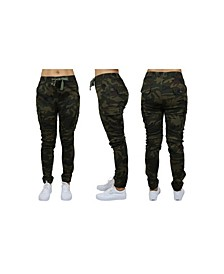 Women's Cotton Stretch Twill Cargo Loose Fit Joggers