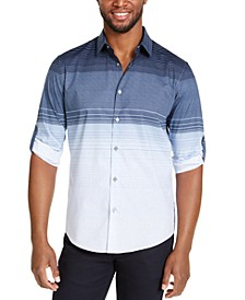 Men's Colorblocked Gradient-Stripe Shirt, Created For Macy's