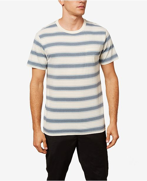 O'Neill Men's Prarie Striped Short Sleeeve Crewneck Tshirt