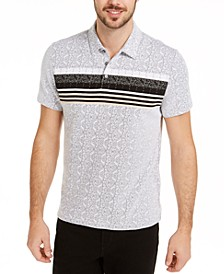 Men's Patterned Striped Polo Shirt, Created for Macy's