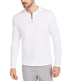 Men's Quarter-Zip Thermal Shirt, Created For Macy's