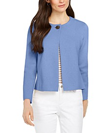 Petite One-Button Cardigan Sweater, Created for Macy's