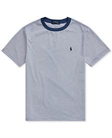 Toddler Boys Striped Cotton-Blend Crewneck T-Shirt