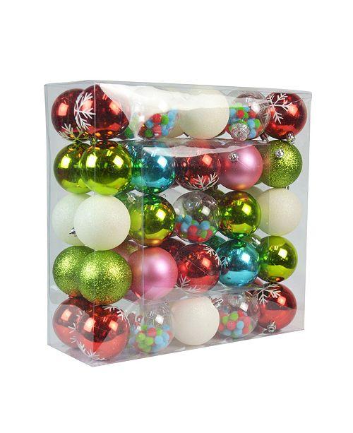 Jeco Christmas Ornament Elegant Wonder Set, 50 Piece
