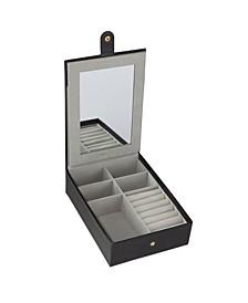 Multi Compartment Jewelry Organizer Box with Vanity Mirror