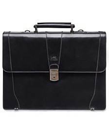 Signature Collection Flapover Double Compartment Laptop and Tablet Briefcase