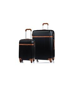 2-Pc. Vintage Hardside Luggage Set