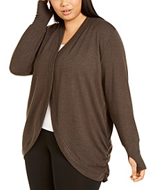 Plus Size French Terry Wrap, Created for Macy's