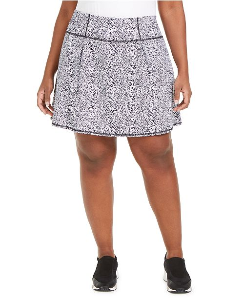 Ideology Plus Size Printed Skort, Created For Macy's