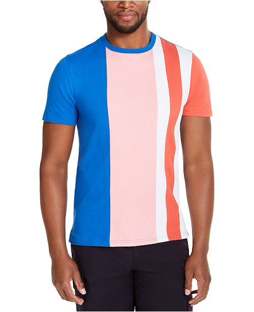 Club Room Men's Colorblocked Stripe T-Shirt, Created for Macy's