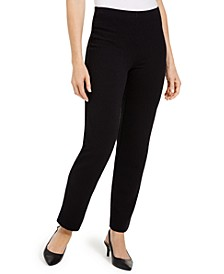 Textured Tummy-Control Pull-On Pants, Created For Macy's