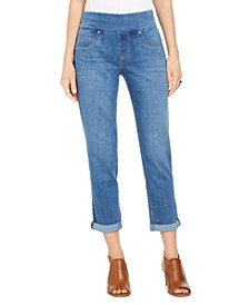 Petite Ella Cuffed Boyfriend Jeans, Created for Macy's
