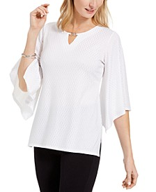 Embellished Flared-Sleeve Top, Created For Macy's