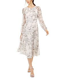 Petite Floral-Print Midi Dress, Created for Macy's