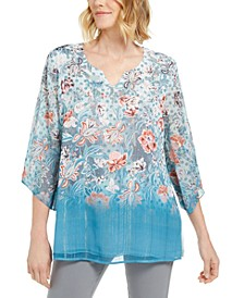 Petite Printed Sublimation Top, Created For Macy's