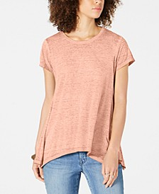 Burnout Handkerchief-Hem T-Shirt, Created for Macy's