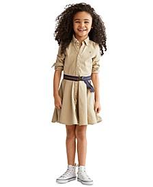 Little Girls Chino Cotton Shirtdress