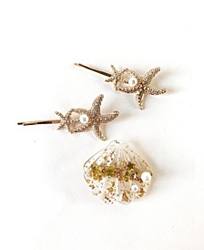 Mermaid Starfish and Seashell Hair Clip Three-Piece Set