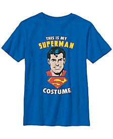DC Comics Little and Big Boys This Is My Superman Costume Short Sleeve T-Shirt