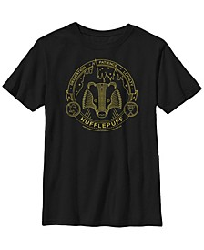 Harry Potter The Deathly Hallows Line Art Symbols Little and Big Boy Short Sleeve T-Shirt