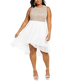 Plus Size Rhinestone-Top Gown