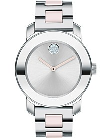 Women's Swiss BOLD Two-Tone Stainless Steel Bracelet Watch 36mm