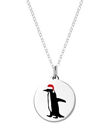 Penguin Necklace in Sterling Silver