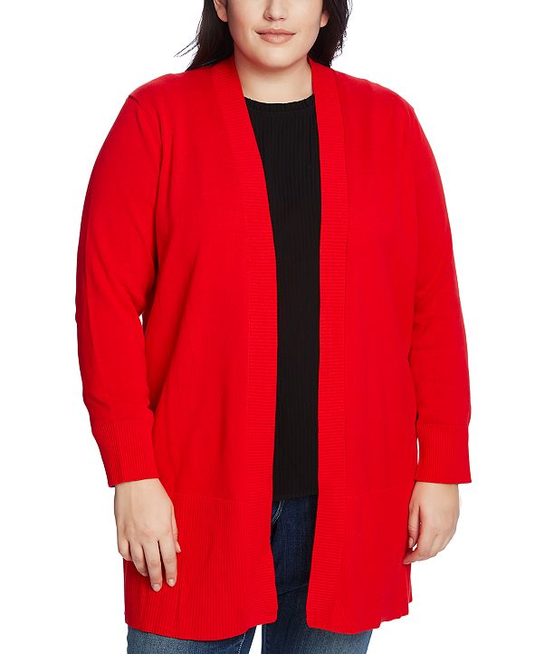 CeCe Plus Size Open-Front Cardigan