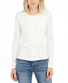 INC Draped-Front Top, Created for Macy's
