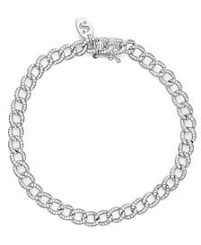 Diamond (1 ct. t.w.) Cuban Link Bracelet in 14K White Gold