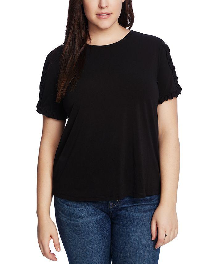 CeCe - Plus Size Ruffled-Sleeve Top