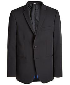 Big Boys Classic-Fit Stretch Black Suit Jacket