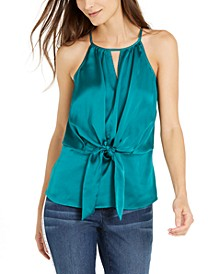 INC Tie-Front Keyhole Top, Created for Macy's