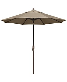Sunbrella® Patio Umbrella, Outdoor Bronze 9' Auto-Tilt