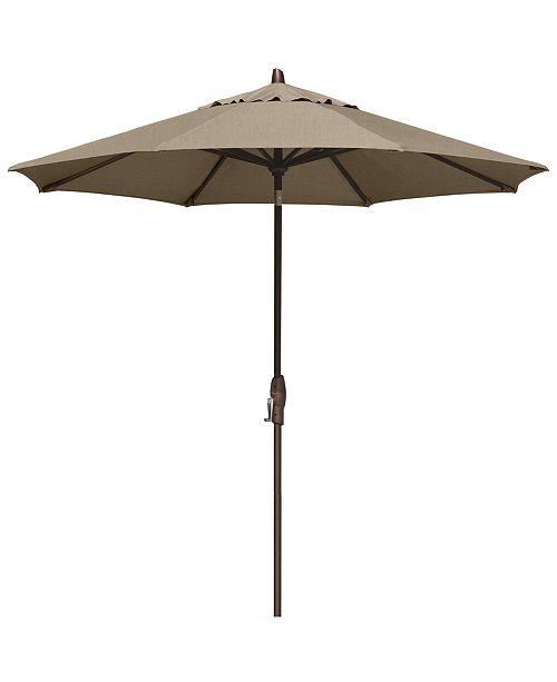 Furniture Patio Umbrella, Outdoor Bronze 9' Auto-Tilt, Quick Ship