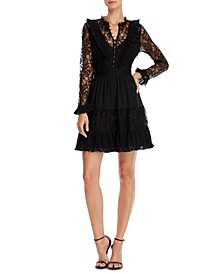 Clari Lace Ruffled Dress